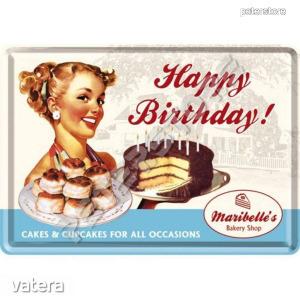 Retró Fém Képeslap - Boldog Születésnapot