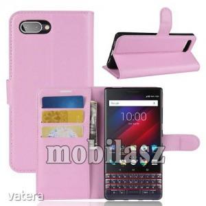 Blackberry Key2 LE, Wallet notesz tok, Oldalra nyíló, Mágneses záródás, Rózsaszín