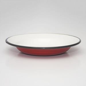 Zománcozott lapos tányér 22cm