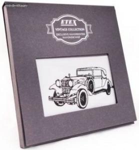 Etex M35 férfi textilzsebkendő vintage oldtimer autó