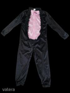 5-6 évesre fekete-rózsaszín plüss cica jelmez