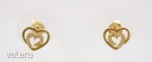 Modern arany szív fülbevaló (ZAL-Au 84569)