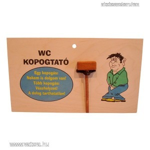 WC kopogtató - Vegyes tréfás termékek