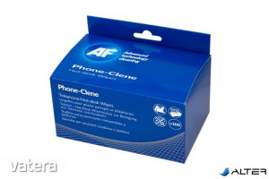Tisztítókendő, telefonkészülékhez, 100 db, AF 'Phone-Clene'