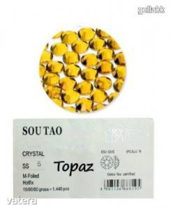 Körömstrassz cyrkonie - SS5 - Topaz - 1440db