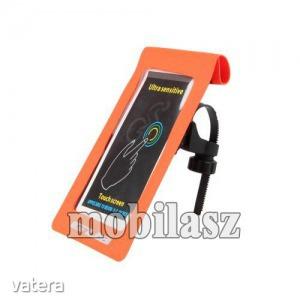 UNIVERZÁLIS biciklis / kerékpáros tartó konzol mobiltelefon készülékekhez - max 6-os méretig, cs...