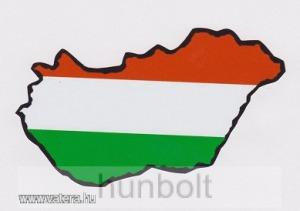 Nemzeti színű Magyarország külső matrica (8x5 cm)