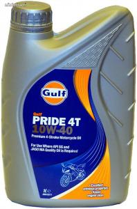 Gulf Pride 4T 10W40 négyütemű motorkerékpár olaj 1L
