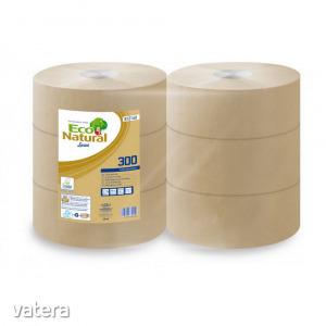 Lucart ECO Natural Maxi közületi toalettpapír 24,5cm 2 rétegű 300m 6 tekercs/zsugor 56 zsugor/raklap