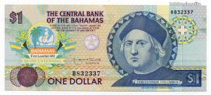 Bahama-szigetek 1 Dollár Bankjegy 1992 RITKA