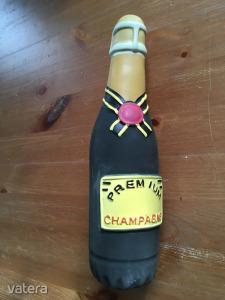 excluzív idegesítő, sípoló gumi alkoholmentes pezsgős üveg (olyan, mint a gumicsirke)