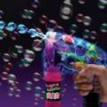 Automata buborékfújó pisztoly / LED party kellék