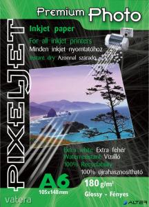 Pixeljet Tintasugaras fotópapír Premium Photo, fényes,, 180g, A6 105x148 mm, 80 lap