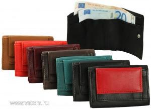Excellanc mini valódi bőr pénztárca