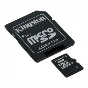 8GB KINGSTON microSDHC+SD ADAPTER Class 4 - Számítástechnika