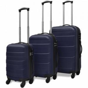Bőröndszett 3 darabos Kék 1d6b843cfc