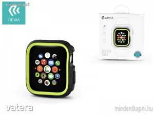 Devia Dazzle Series 40 mm Apple Watch 4 védőtok fekete/neon zöld