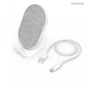 Hama QI FABRIC FC-10S Wireless Charger 10W White 188325