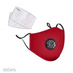 Mosható pamut egészségügyi szájmaszk, állítható pánttal és cserélhető PM2.5-ös szűrőbetéttel - pi...