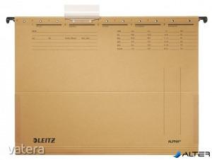 Függőmappa, oldalvédelemmel, karton, A4, LEITZ 'Alpha', natúr