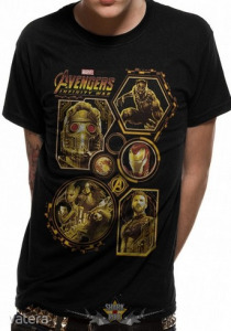 AVENGERS - INFINITY WAR . Marvel Comics. filmes, movie póló