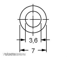 Távtartó Gyűrű Műanyag fekete D:7mm, hossz:5mm