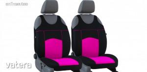 Univerzális trikó üléshuzat pár Tuning 100% velúr rózsaszín fekete színben