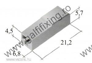 Műanyag szigetelő 6,3 mm-s csúszóérintkező hüvelyhez (160158)