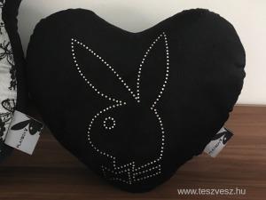 Playboy nyuszi köves dekor párna