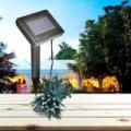 100 LED-es napelemes kerti fényfüzér - 20 méter, színes