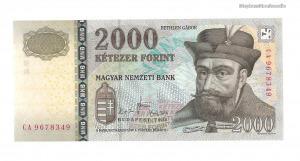 2008 2000 forint CA UNC