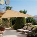 Napvitorla-árnyékoló teraszra, és kertbe háromszög alakú 5x5x5m
