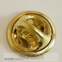 Jelvény gomb, pillangó patent- ezüst
