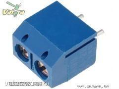 Sorkapocs 2 pin (NYÁK-ba) 5mm lábtáv, kék
