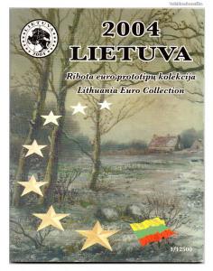 Litvánia Euro Forgalmi sor 2004 Próba tervezet