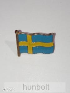 Svéd zászló 15 mm jelvény - Vatera.hu Kép