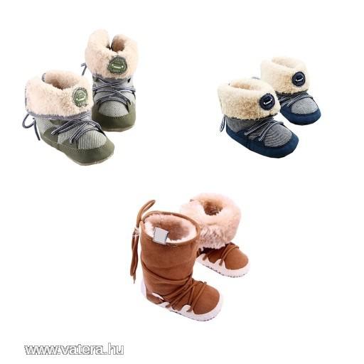 1 db Téli Baby fiú lány Meleg csíkos csizma első lépések cipő csizma bélelt  kinti cipő 94f5debf01