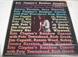 Eric Clapton: Rainbow Concert US. LP. 1973.