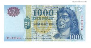 2003 1000 forint DA UNC