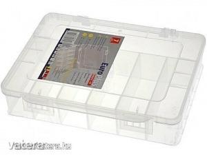 Tárolódoboz - 7 rekeszes műanyag tároló doboz - 18cm