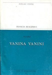 : Vanina vanini (Populart füzetek) - 600 Ft Kép