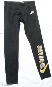 Adidas Justdoit. márkájú leggings 137-146 cm 10-12 év fekete színű ezüst/arany márka jellel, logóval