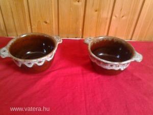 Szép mázas  kerámia edény pár