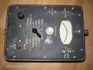 Univeka-144 Volt;Amper;Ohm mérőműszer, multiméter, műszer.