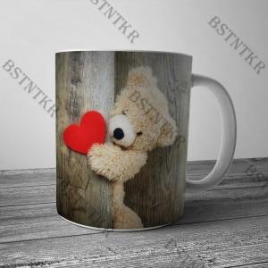 Szerelmes maci mintás bögre Valentin napra Valentin nap