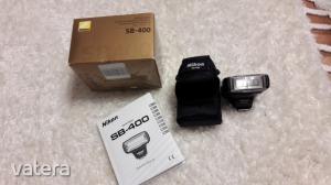 Nikon D40 digitális fényképezőgép kit, fekete (18-55mm, 55-200 objektívvel)+tartozékokkal