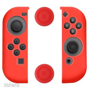 Szilikon burkolatok készlete a Nintendo Switch Joy - Con - Piros - 60442