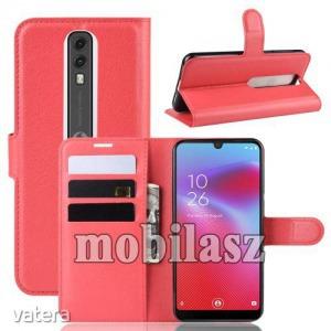 Vodafone Smart V10, WALLET notesz mobiltok, Piros
