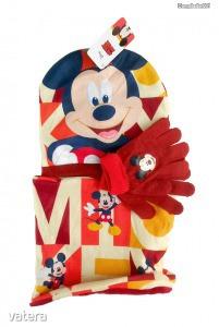 Mickey egeres sapka/sál/kesztyű szett