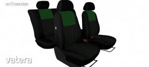Univerzális Üléshuzat Tuning Due velúr szövet és kárpit kombináció fekete és zöld színben